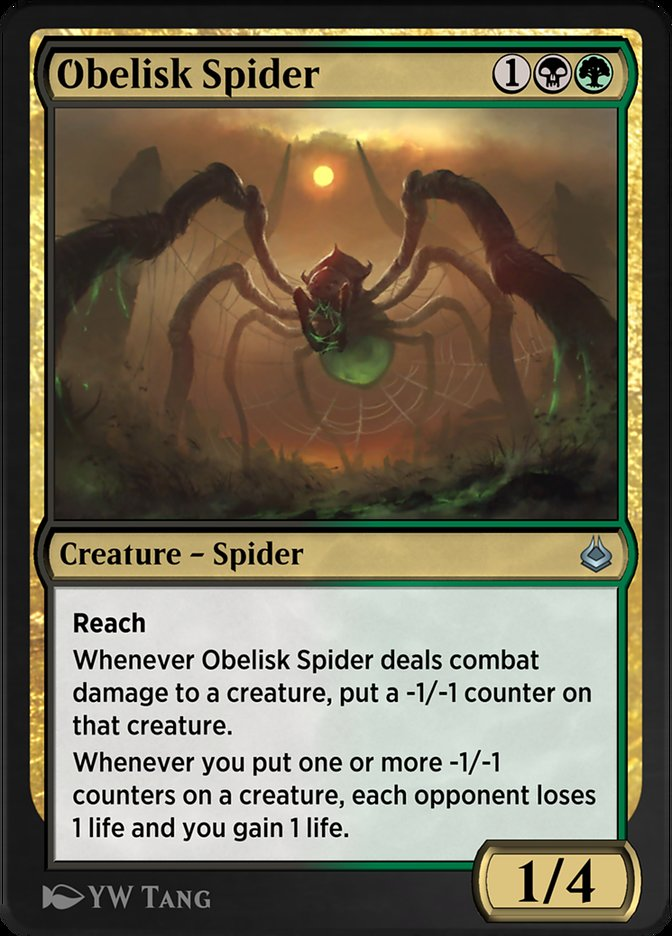 Carta /Obelisk Spider de Magic the Gathering