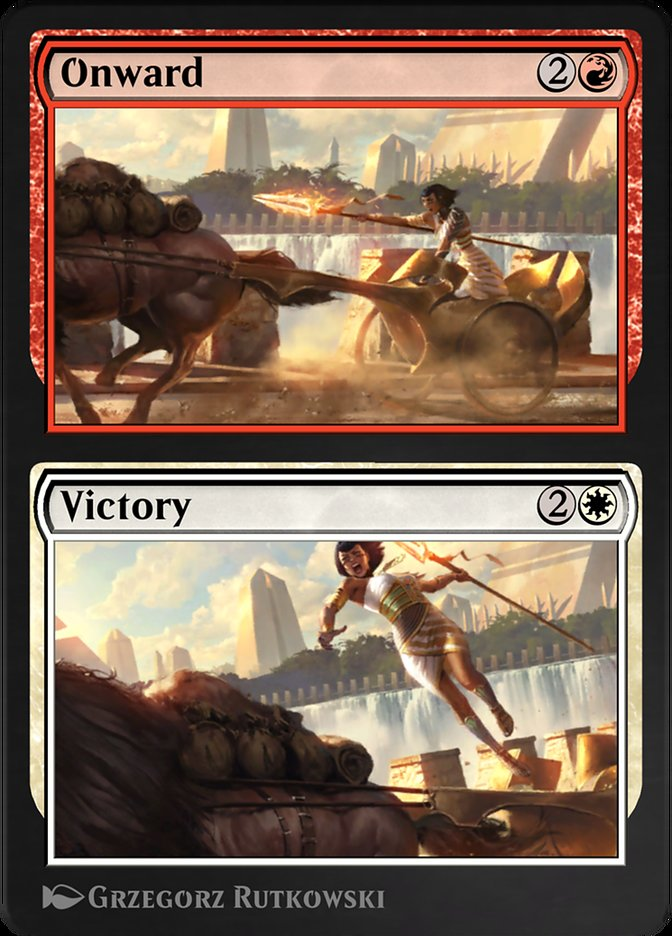 Carta /Onward // Victory de Magic the Gathering