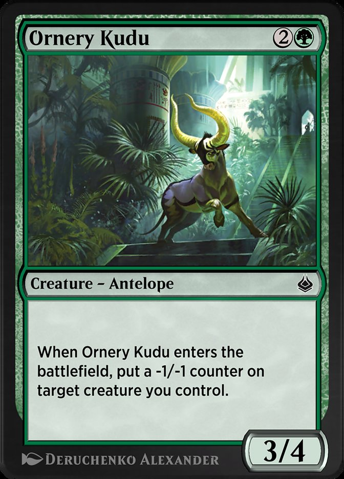 Carta /Ornery Kudu de Magic the Gathering