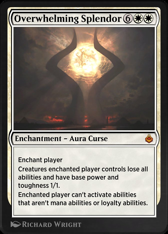 Carta /Overwhelming Splendor de Magic the Gathering