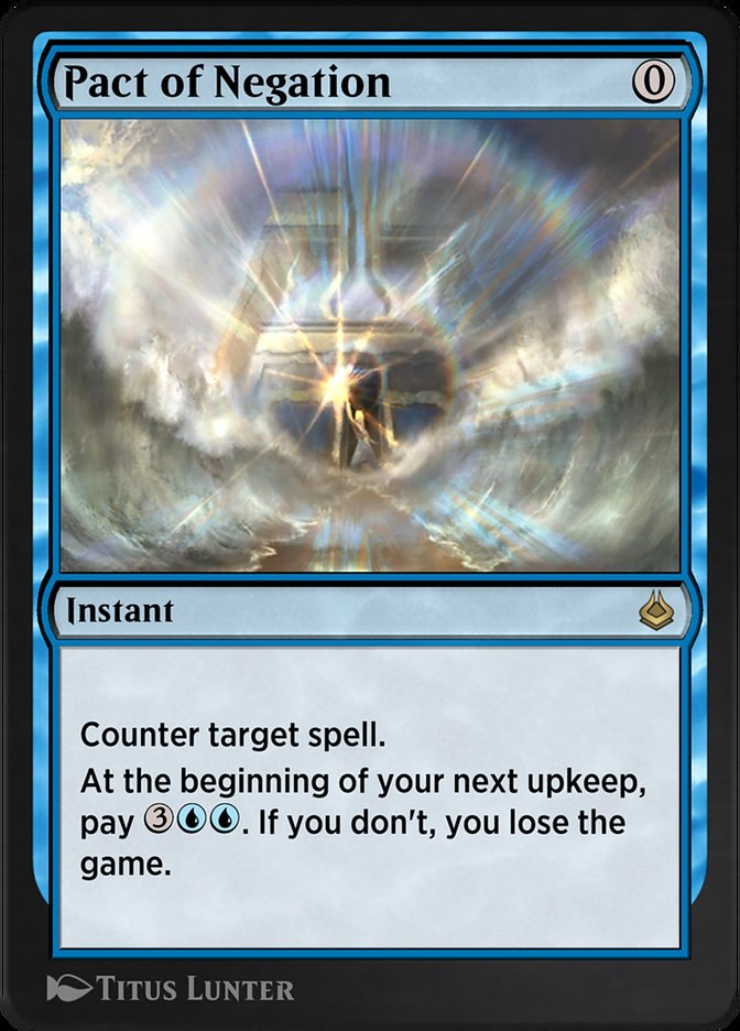 Carta /Pact of Negation de Magic the Gathering