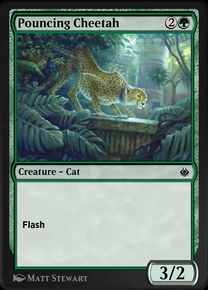 Carta /Pouncing Cheetah de Magic the Gathering