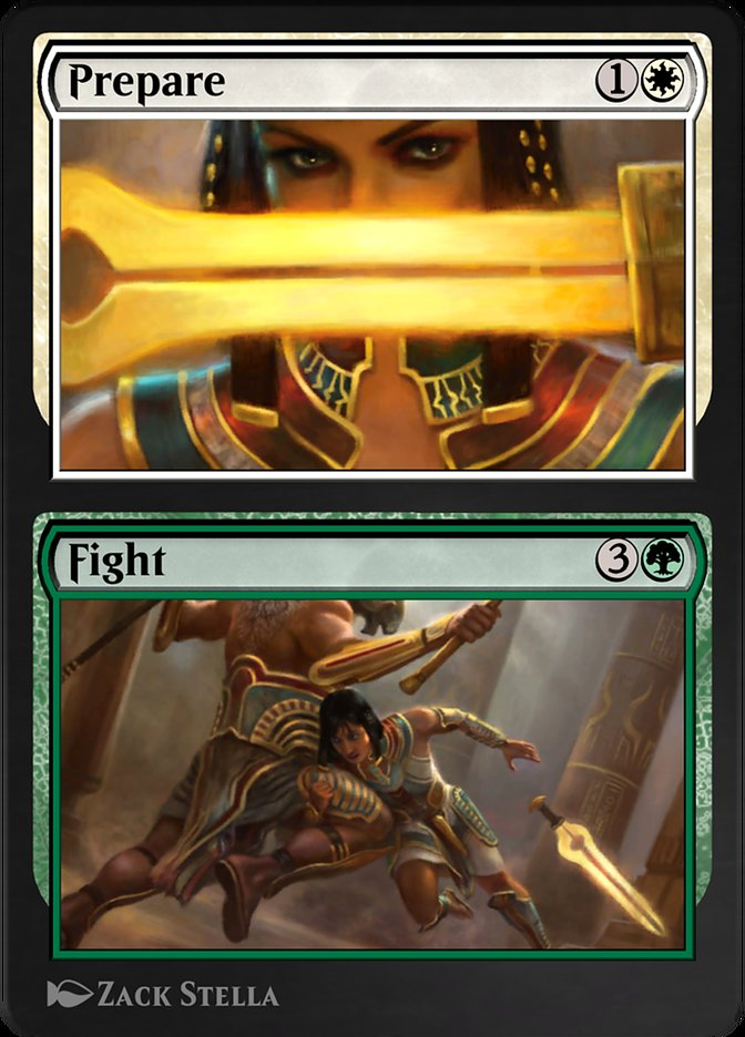Carta /Prepare // Fight de Magic the Gathering