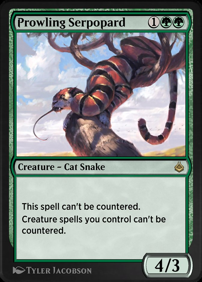 Carta /Prowling Serpopard de Magic the Gathering