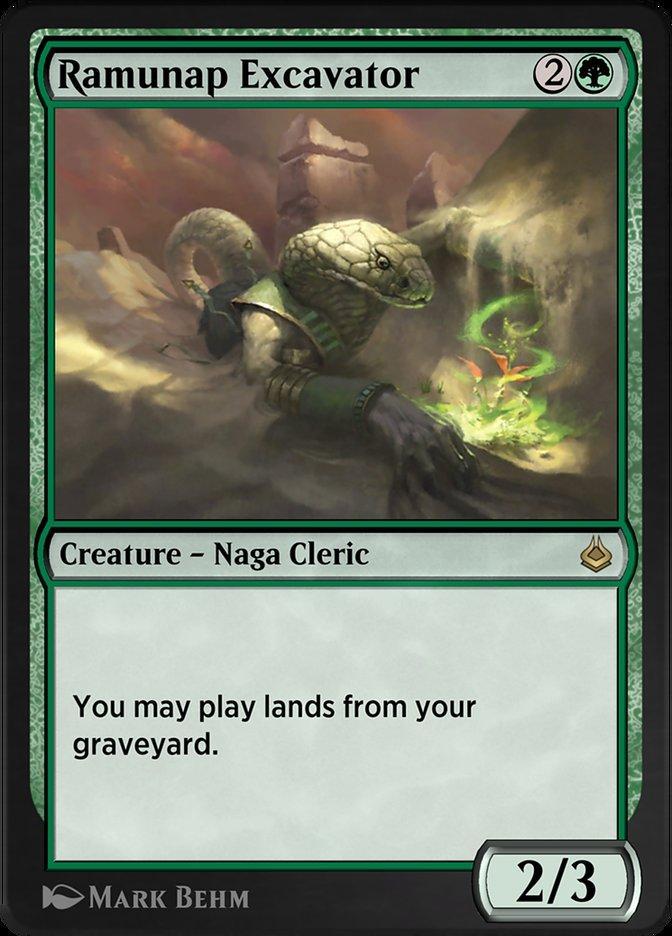 Carta /Ramunap Excavator de Magic the Gathering