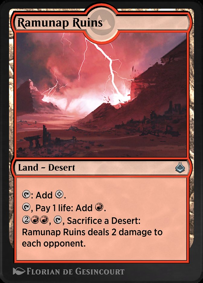Carta /Ramunap Ruins de Magic the Gathering