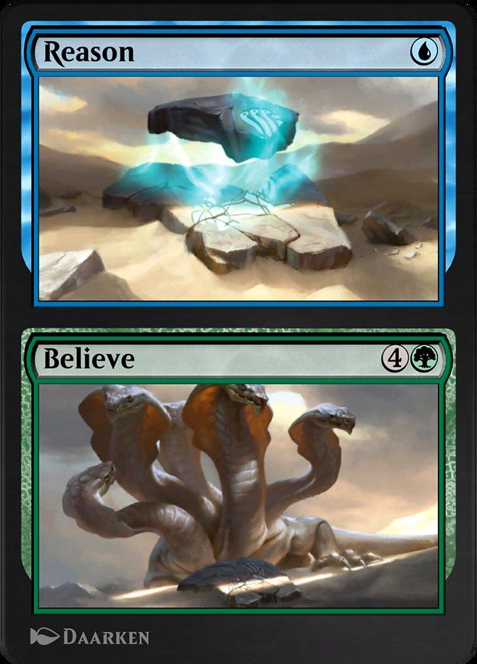 Carta /Reason // Believe de Magic the Gathering