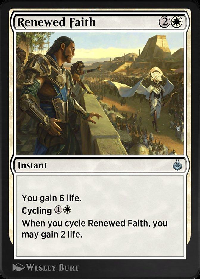 Carta /Renewed Faith de Magic the Gathering