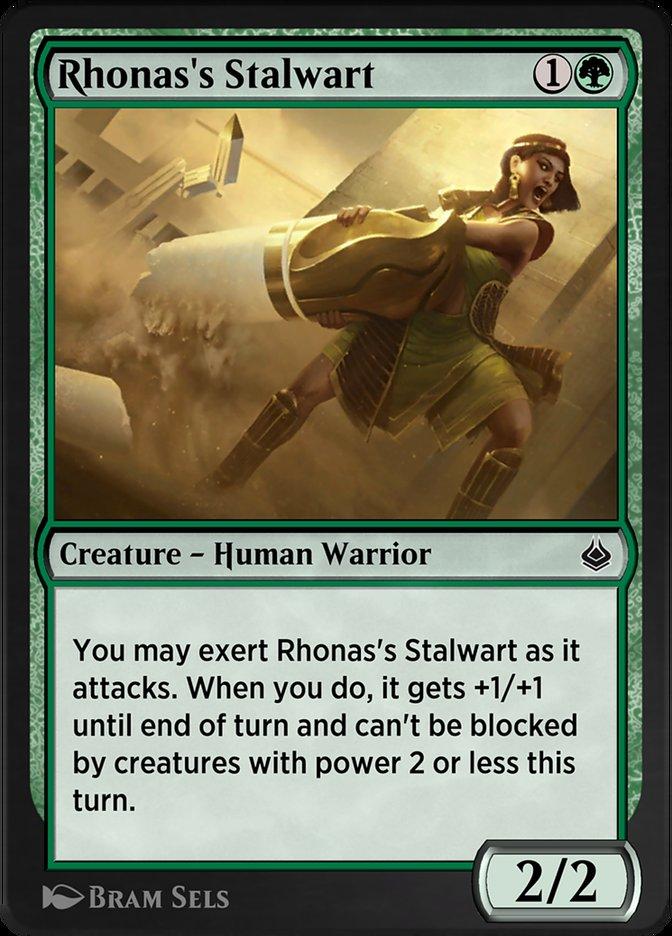 Carta /Rhonas's Stalwart de Magic the Gathering
