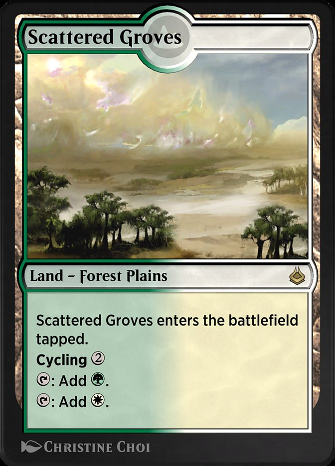 Carta /Scattered Groves de Magic the Gathering