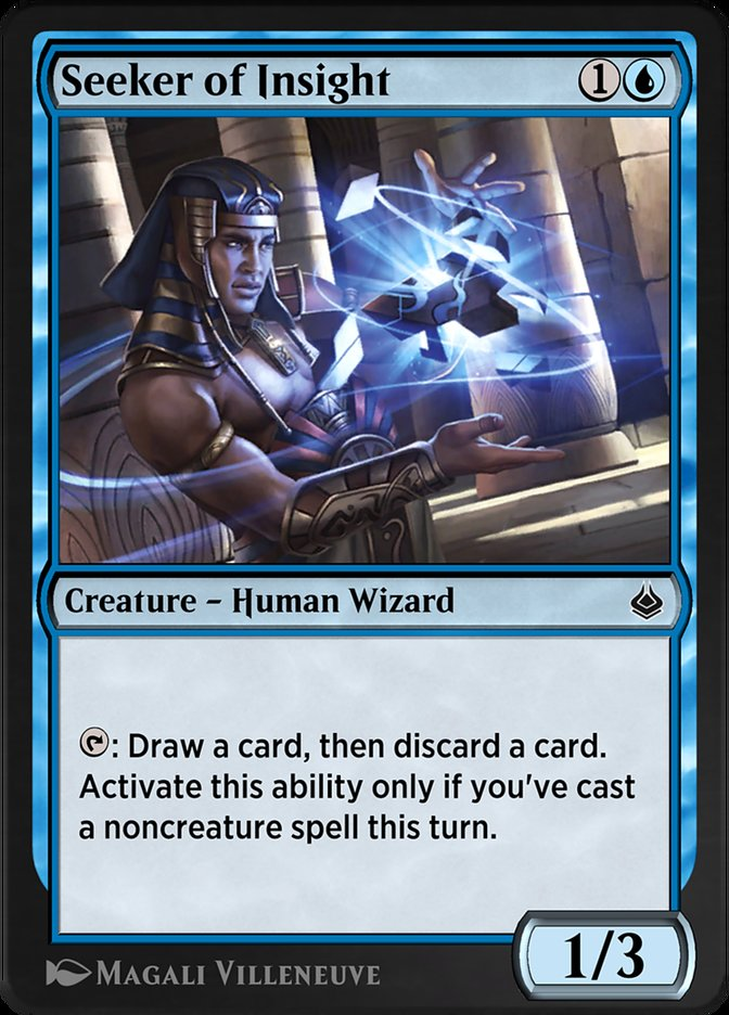 Carta /Seeker of Insight de Magic the Gathering