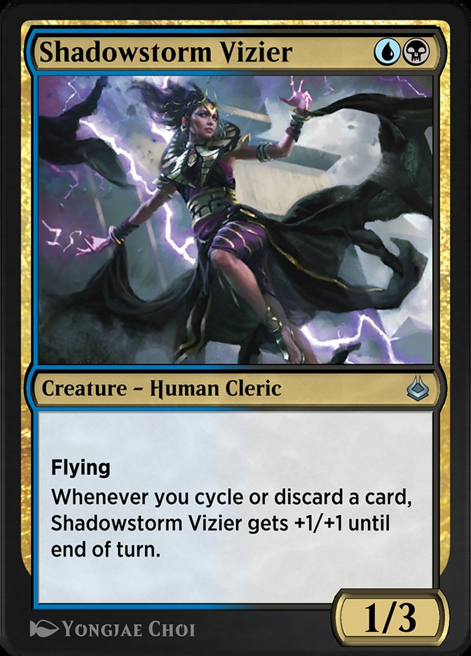Carta /Shadowstorm Vizier de Magic the Gathering
