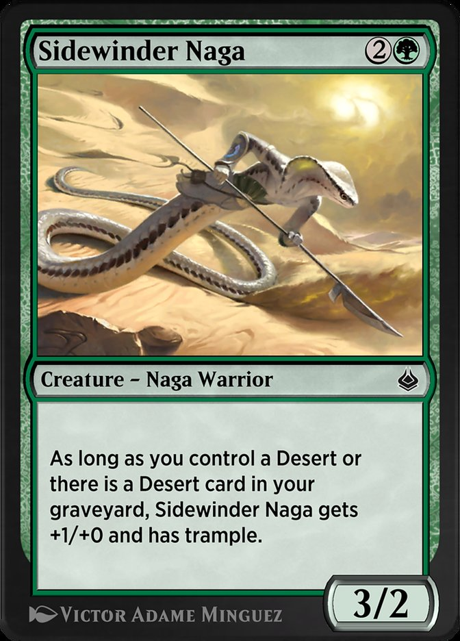 Carta /Sidewinder Naga de Magic the Gathering