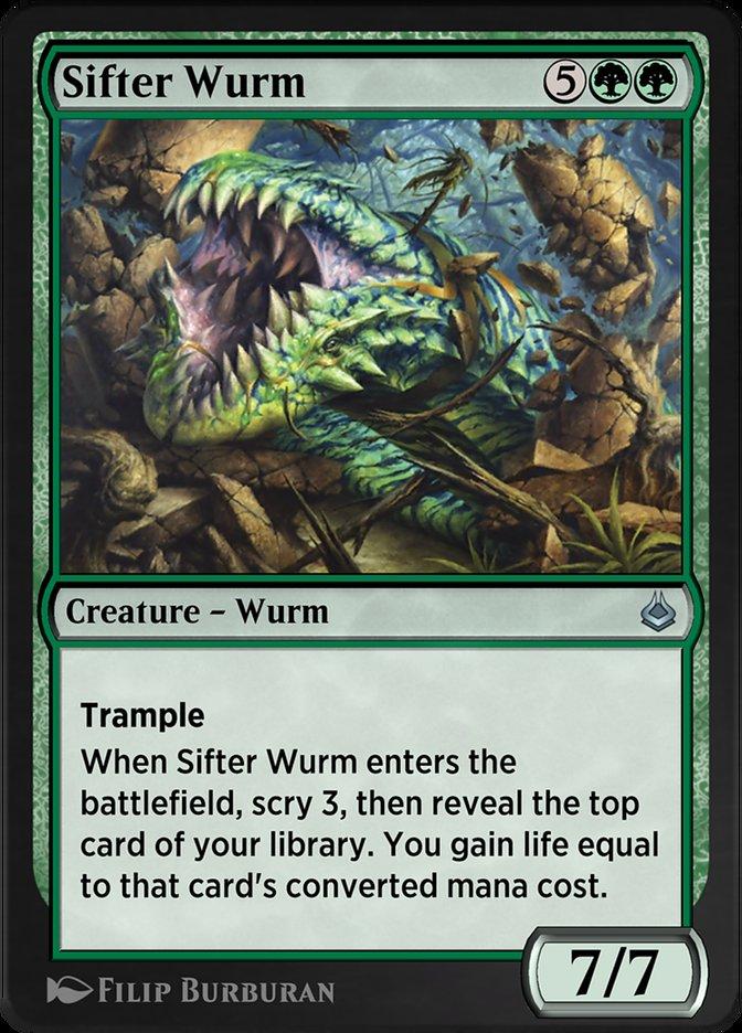 Carta /Sifter Wurm de Magic the Gathering