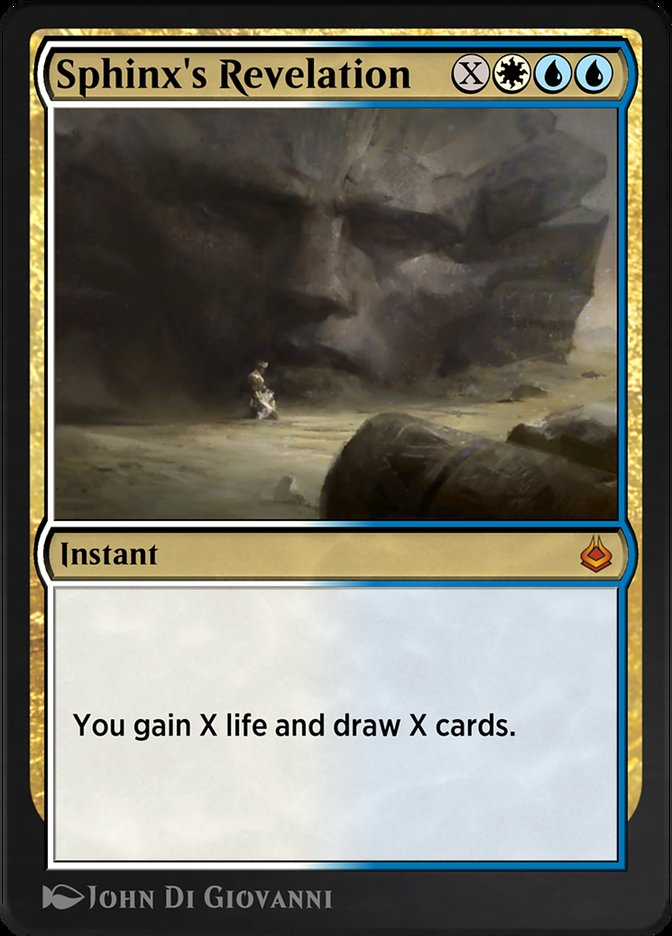 Carta /Sphinx's Revelation de Magic the Gathering
