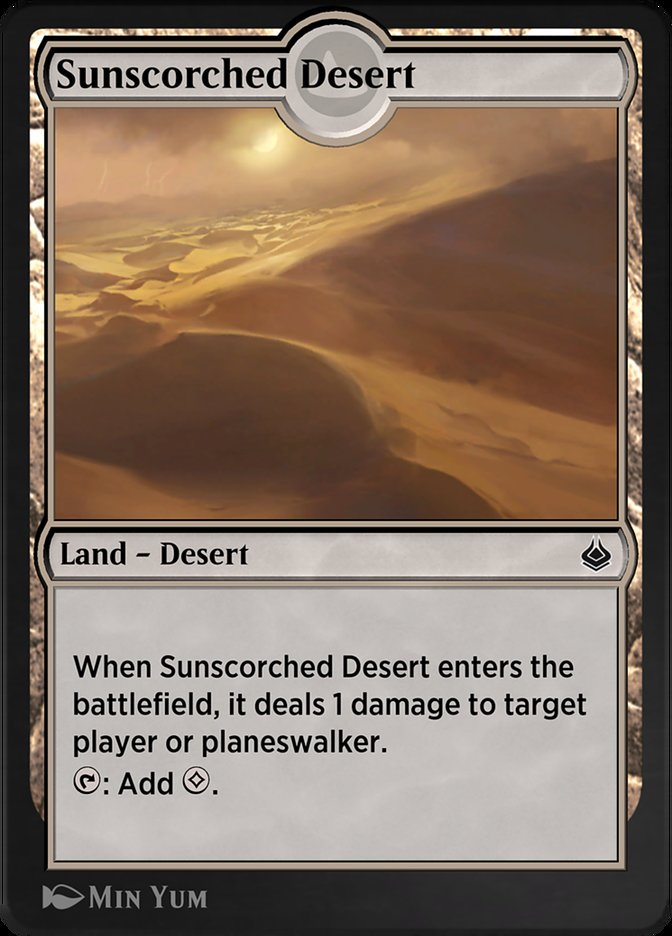 Carta /Sunscorched Desert de Magic the Gathering