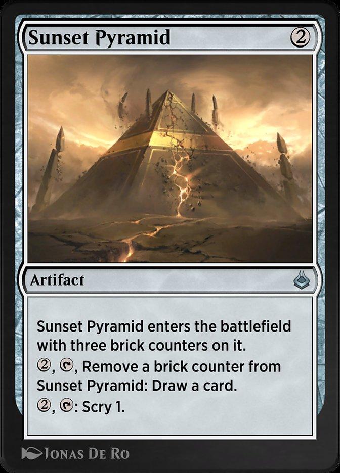 Carta /Sunset Pyramid de Magic the Gathering