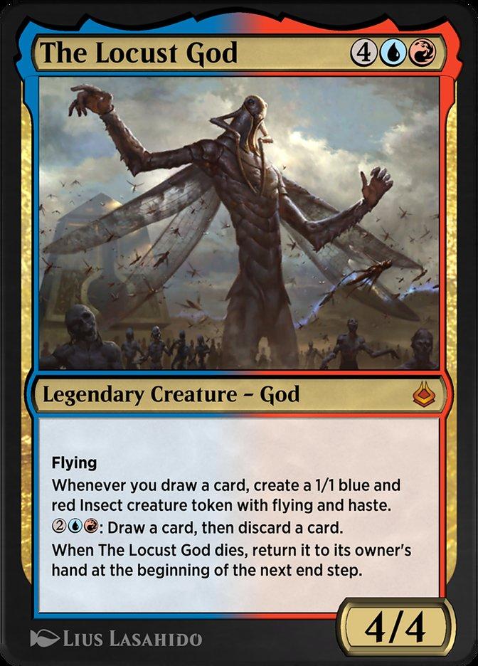 Carta /The Locust God de Magic the Gathering