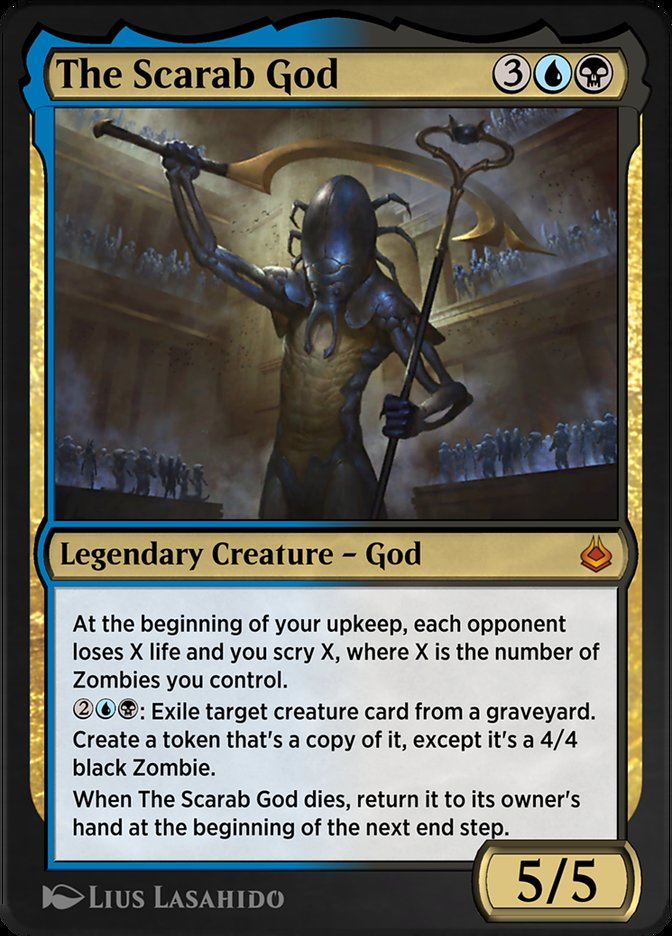 Carta /The Scarab God de Magic the Gathering