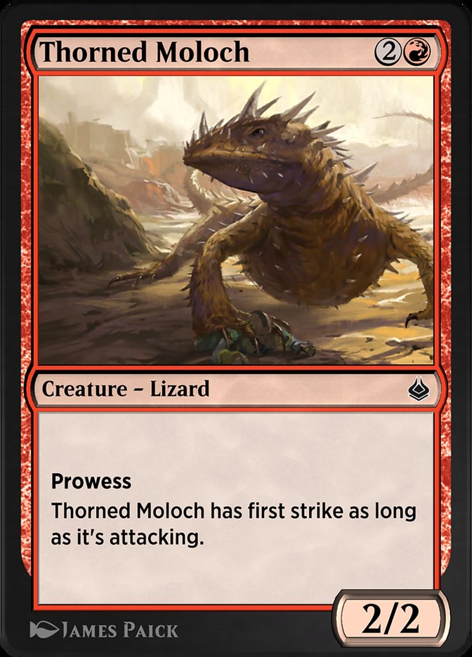 Carta /Thorned Moloch de Magic the Gathering