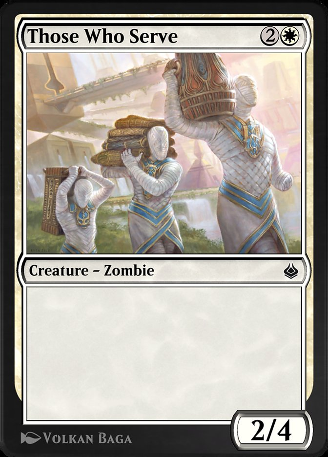 Carta /Those Who Serve de Magic the Gathering