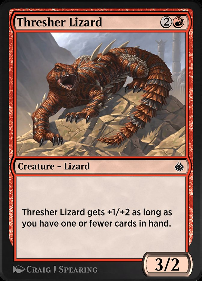 Carta /Thresher Lizard de Magic the Gathering