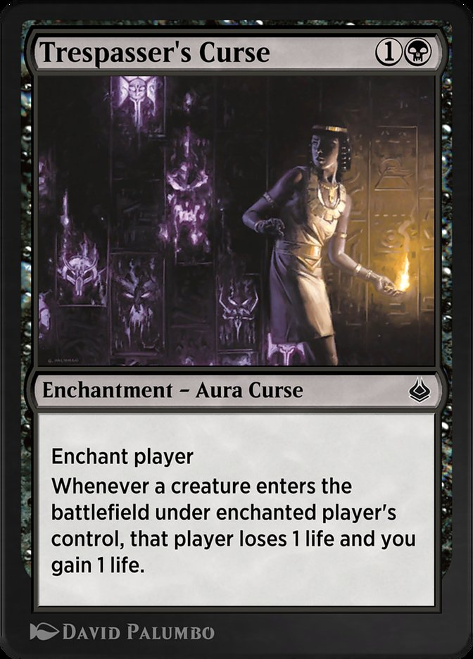 Carta /Trespasser's Curse de Magic the Gathering