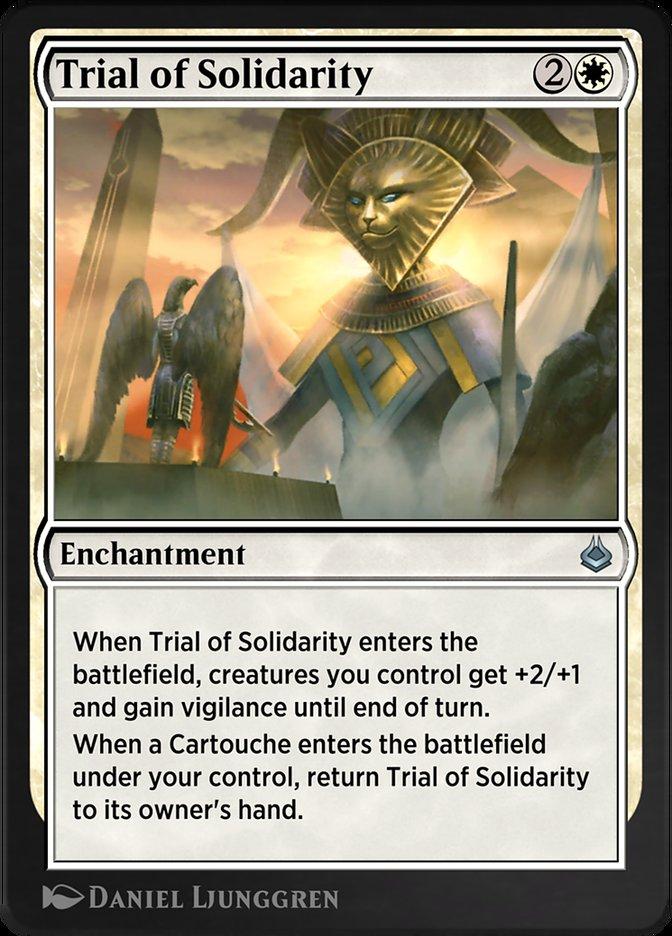 Carta /Trial of Solidarity de Magic the Gathering