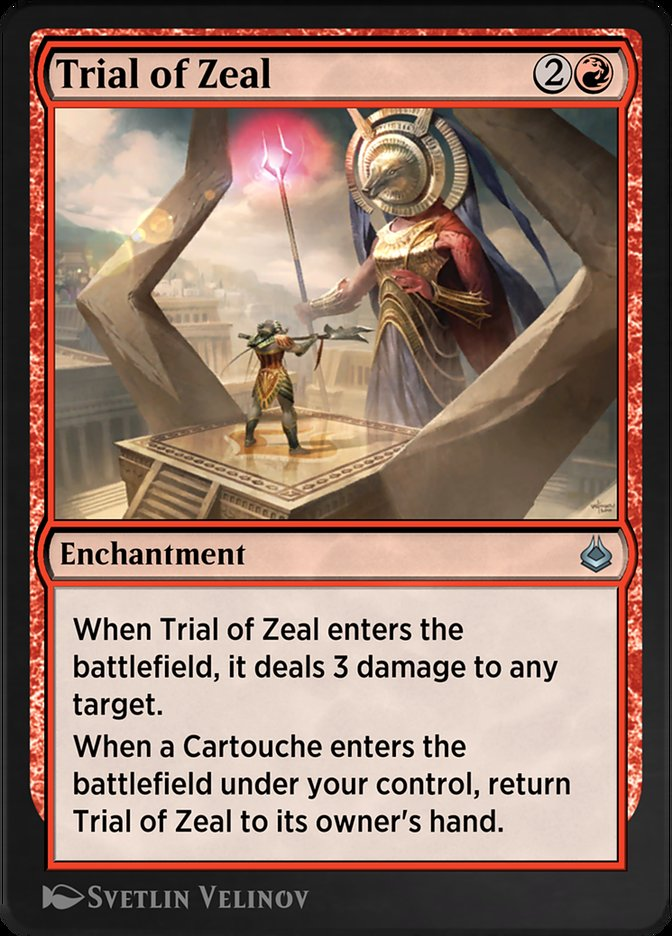 Carta /Trial of Zeal de Magic the Gathering