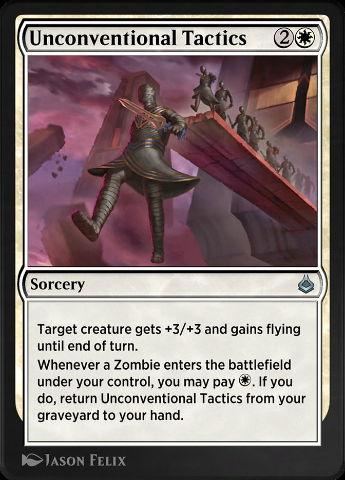 Carta /Unconventional Tactics de Magic the Gathering