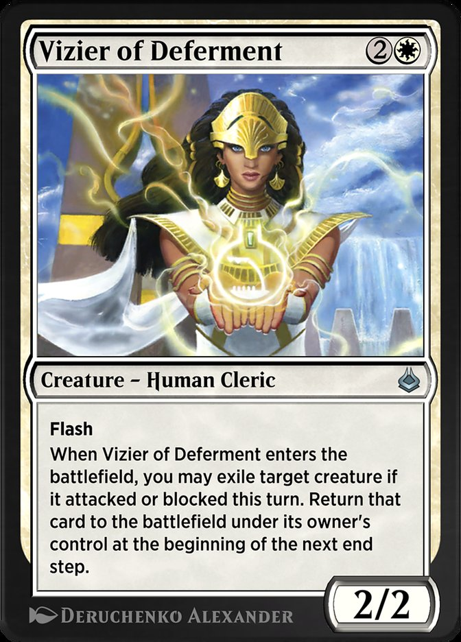 Carta /Vizier of Deferment de Magic the Gathering