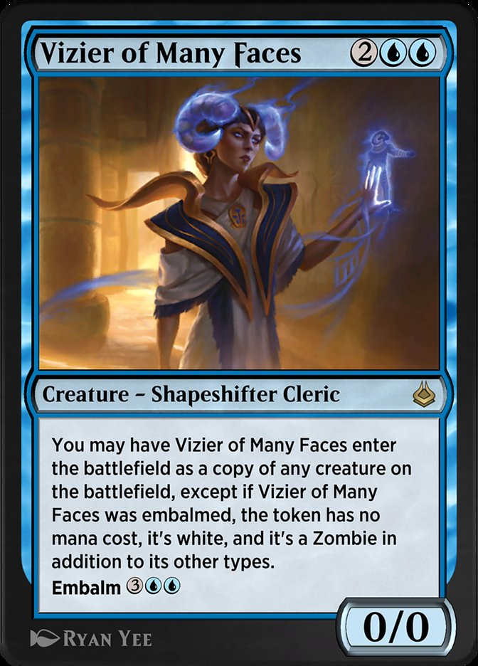 Carta /Vizier of Many Faces de Magic the Gathering