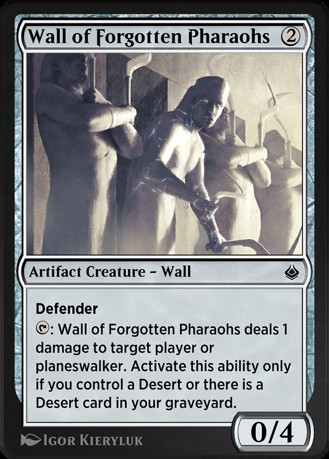 Carta /Wall of Forgotten Pharaohs de Magic the Gathering