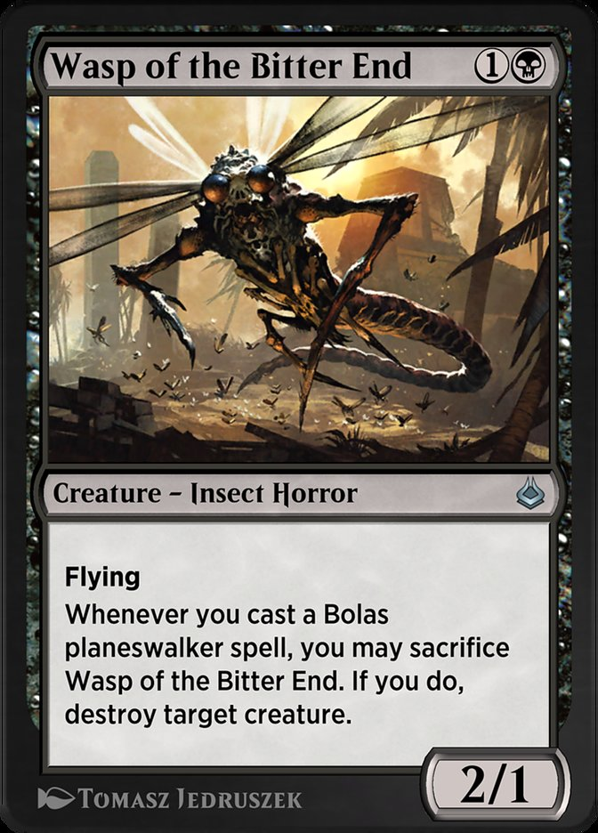Carta /Wasp of the Bitter End de Magic the Gathering