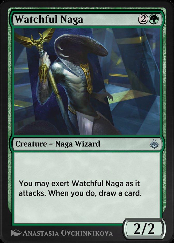 Carta /Watchful Naga de Magic the Gathering