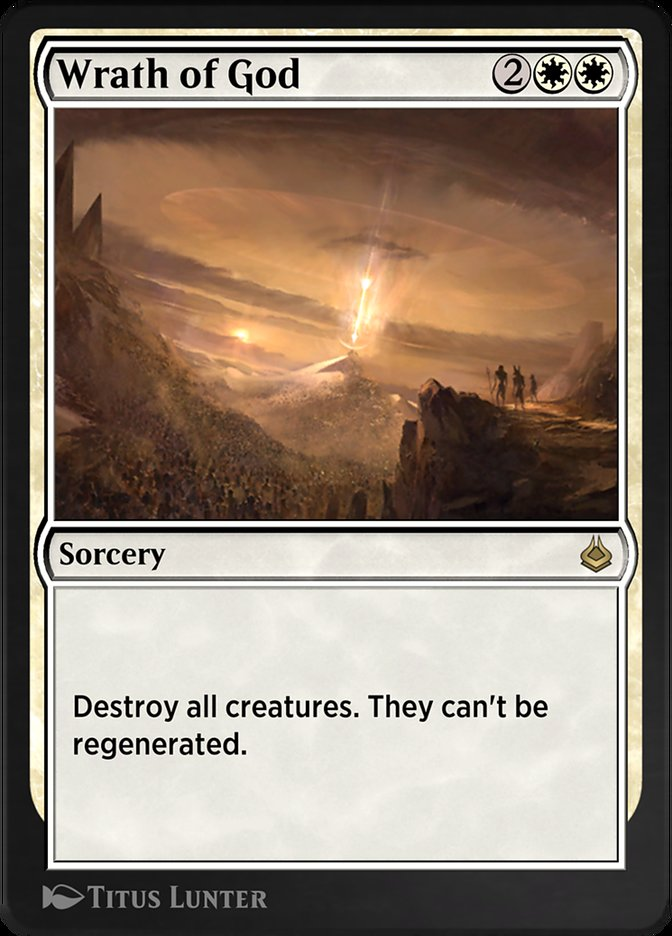 Carta /Wrath of God de Magic the Gathering