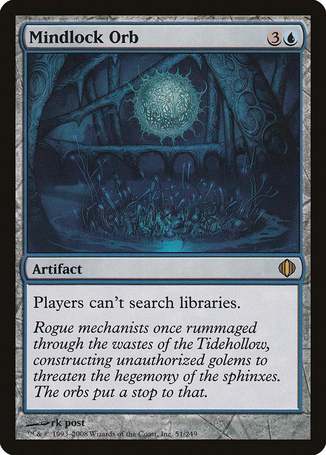 Carta Orbe do Bloqueio Mental/Mindlock Orb de Magic the Gathering