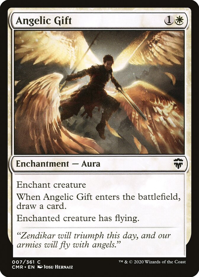 Carta /Angelic Gift de Magic the Gathering
