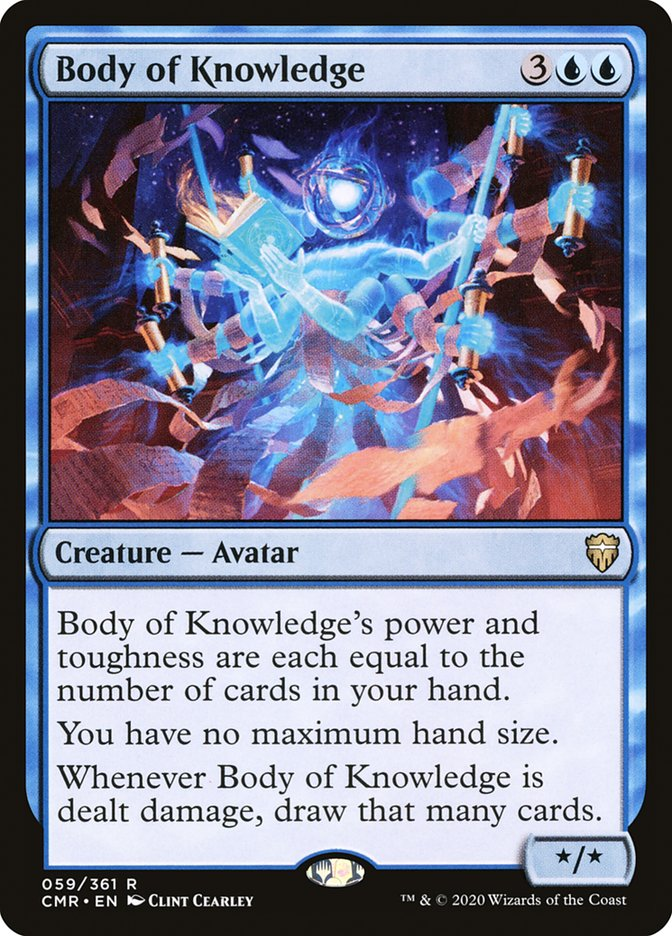 Carta /Body of Knowledge de Magic the Gathering