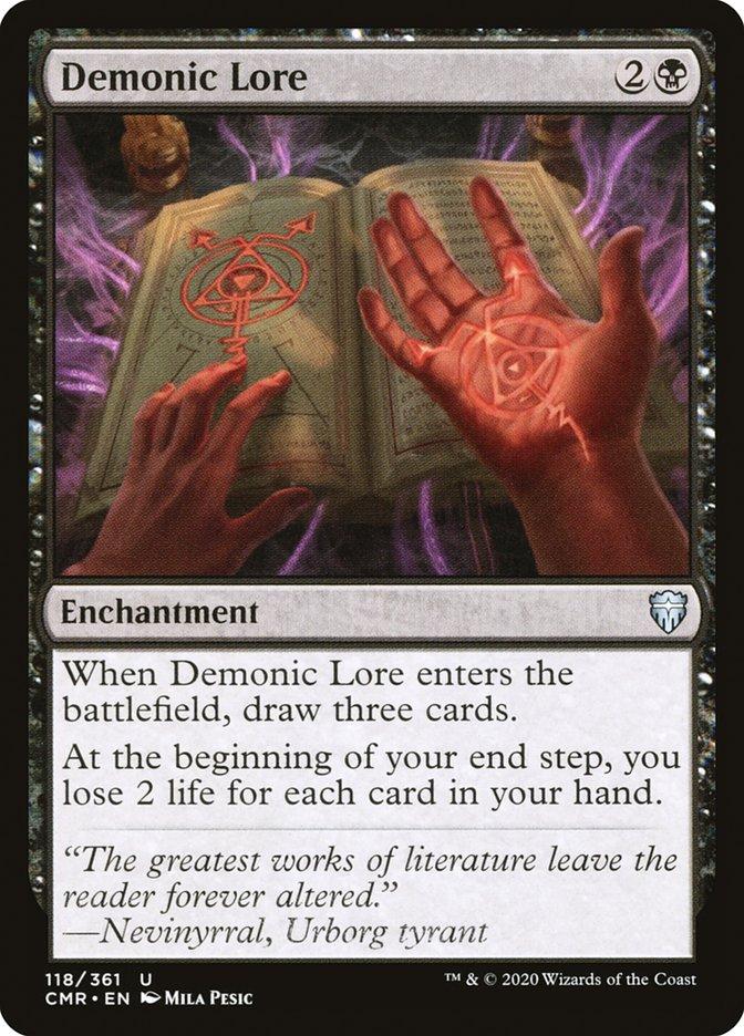 Carta /Demonic Lore de Magic the Gathering
