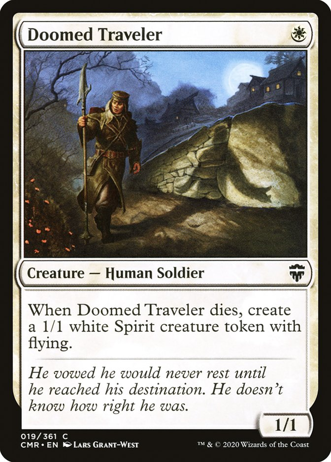 Carta /Doomed Traveler de Magic the Gathering