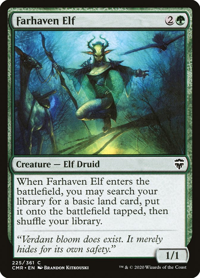 Carta /Farhaven Elf de Magic the Gathering