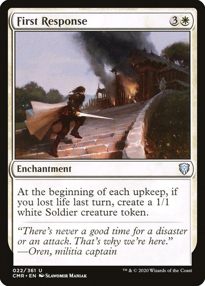 Carta /First Response de Magic the Gathering
