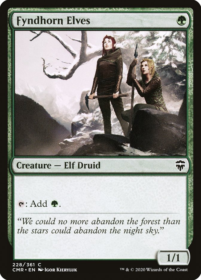 Carta /Fyndhorn Elves de Magic the Gathering