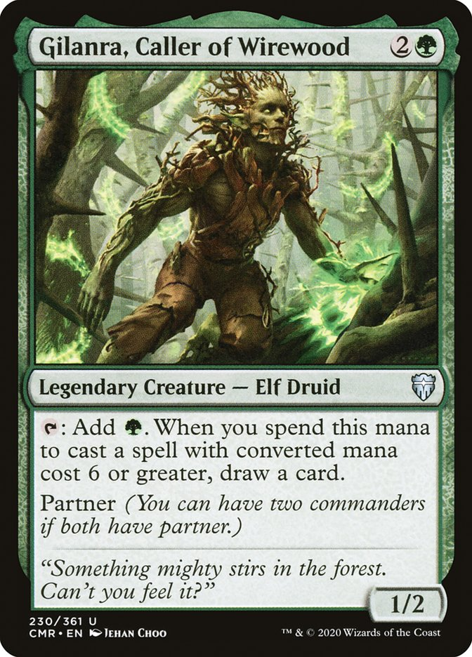 Carta /Gilanra, Caller of Wirewood de Magic the Gathering