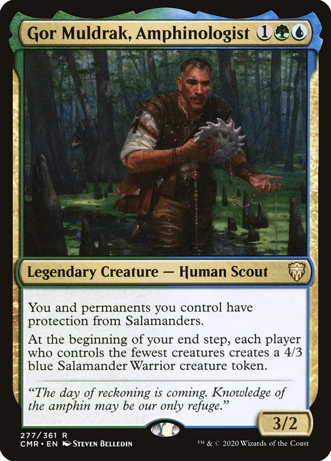 Carta /Gor Muldrak, Amphinologist de Magic the Gathering