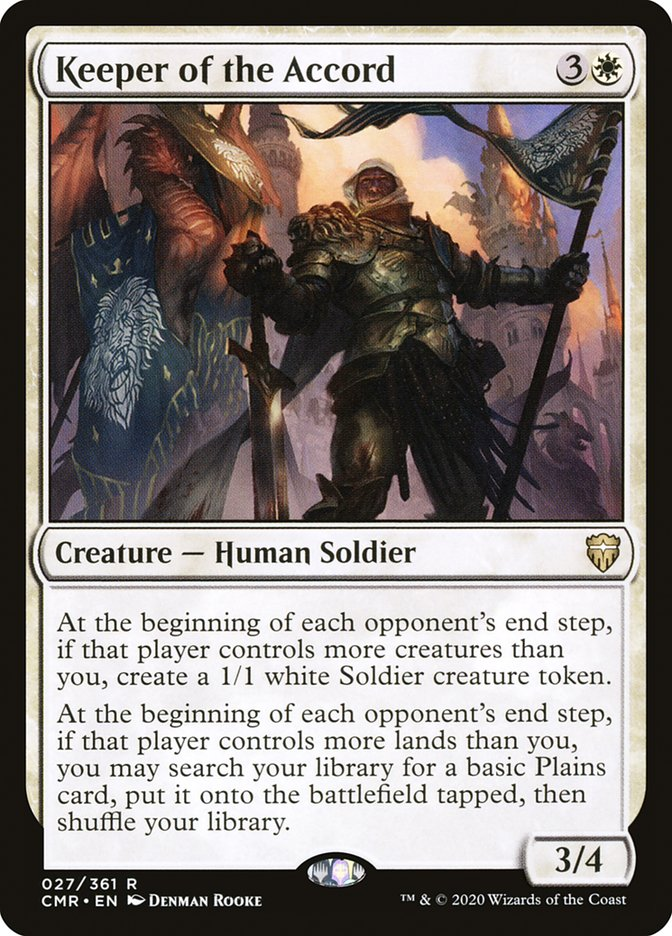 Carta /Keeper of the Accord de Magic the Gathering