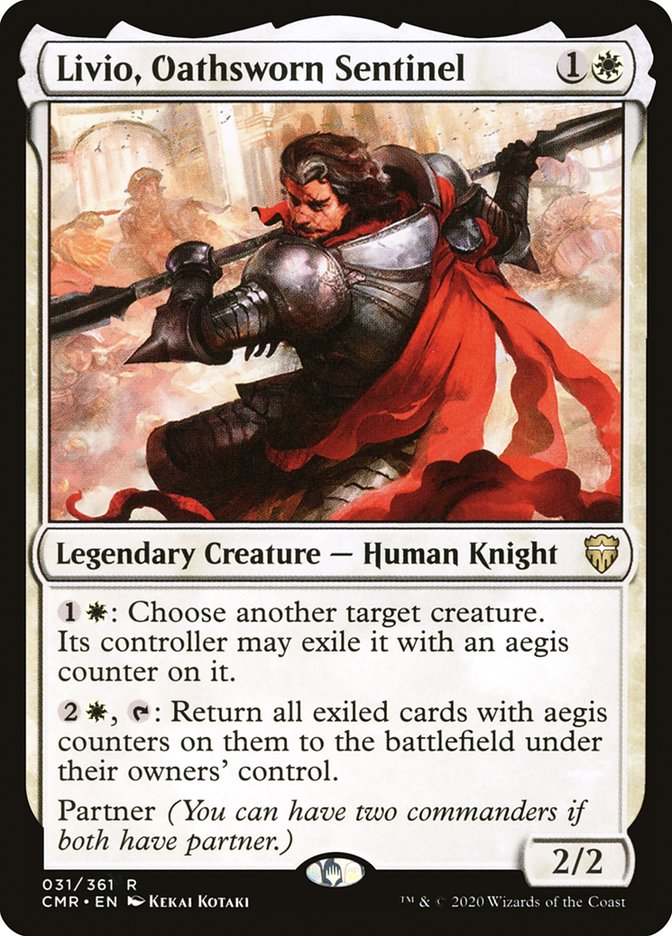 Carta /Livio, Oathsworn Sentinel de Magic the Gathering