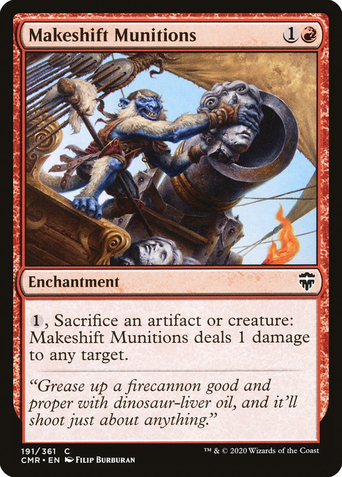 Carta /Makeshift Munitions de Magic the Gathering