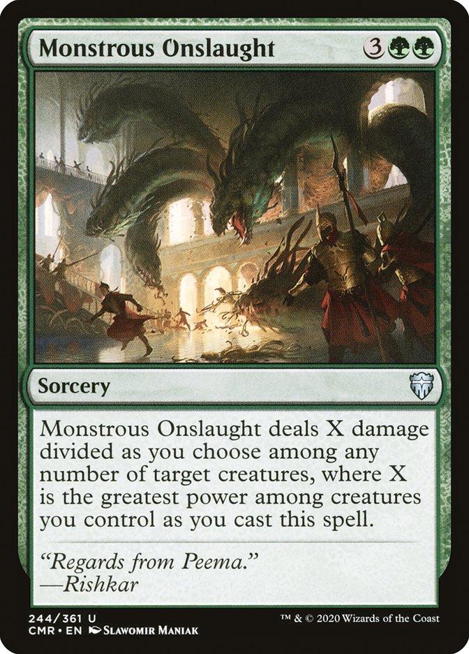 Carta /Monstrous Onslaught de Magic the Gathering